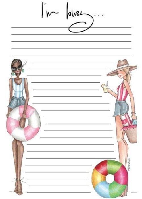 "Brittany Fuson ""Summer"" Brittany Fuson™ Notepad"