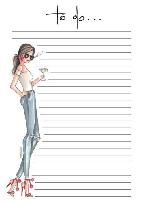 "Brittany Fuson ""Lemon Twist"" Brittany Fuson™ Notepad"