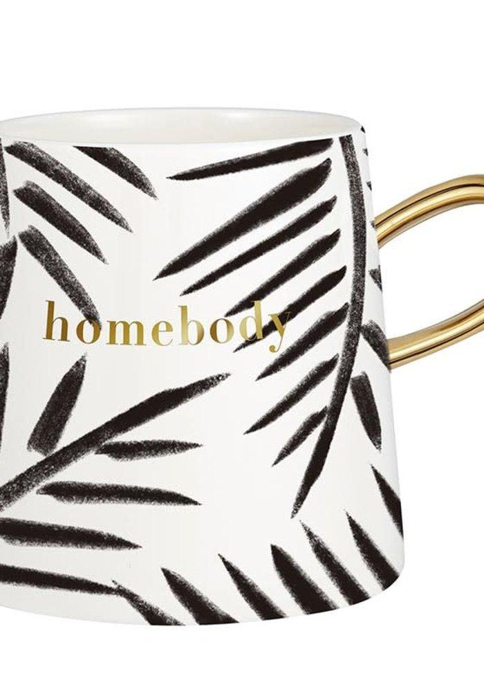 """""""Homebody"""" Watercolor Tapered Mug"""
