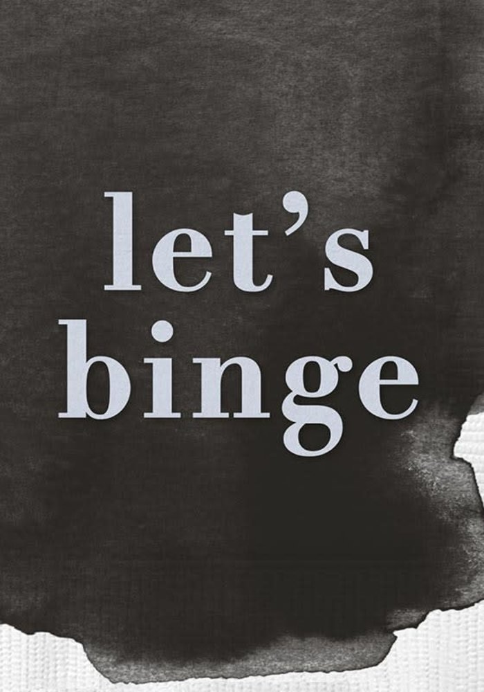 """Let's Binge"" Watercolor Beverage Napkins 20-ct."