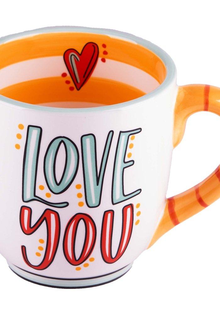 """Love You More"" Heart Mug"