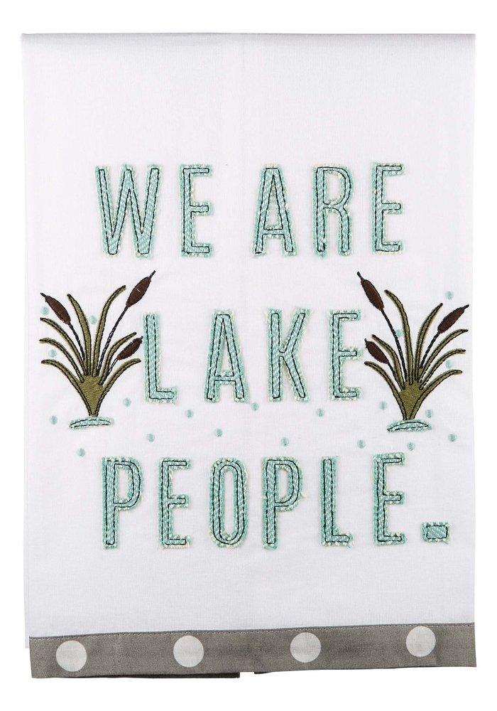 """""""We Are Lake People"""" Tea Towel"""
