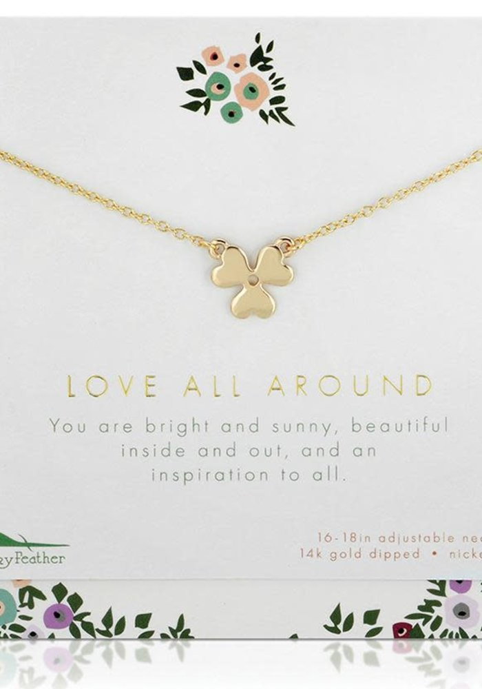 """Love All Around"" Necklace + Card Gift Set"