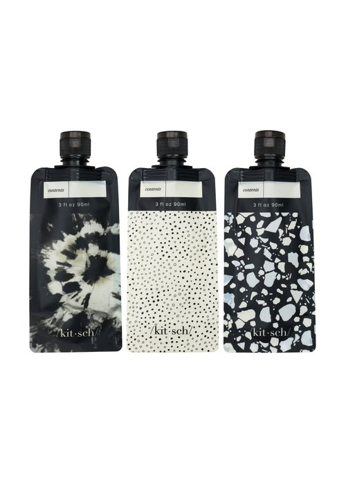 Refillable Travel Pouches Set of 3