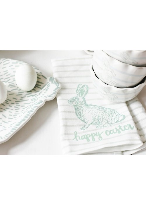 Happy Everything Happy Easter Speckled Rabbit Hand Towel