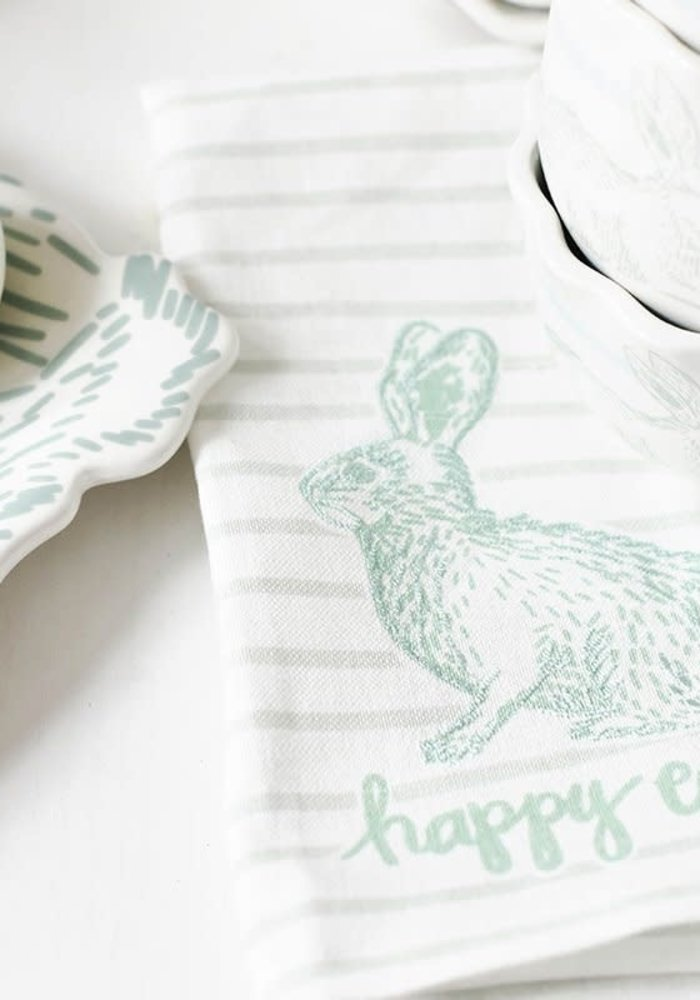 Happy Easter Speckled Rabbit Hand Towel