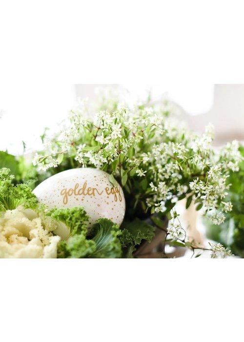 """Happy Everything """"Golden Egg"""" Easter Hunt Tradition Speckled Egg"""