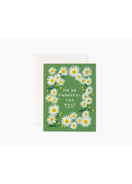 "Rifle Paper ""I'm So Thankful For You"" Daisies Card"