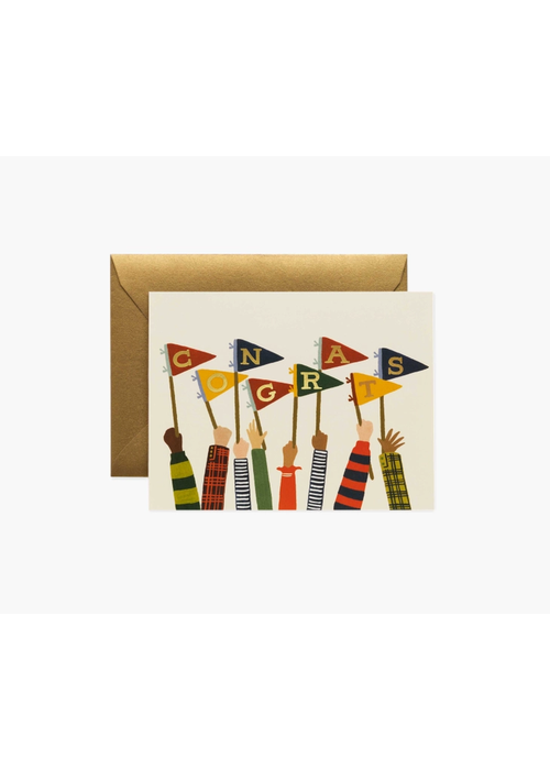 Rifle Paper Gold Foil Congrats Pennant Card