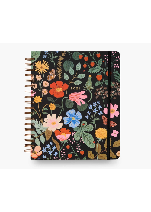"Rifle Paper ""Strawberry Fields"" 2021 Hardcover Spiral Planner"