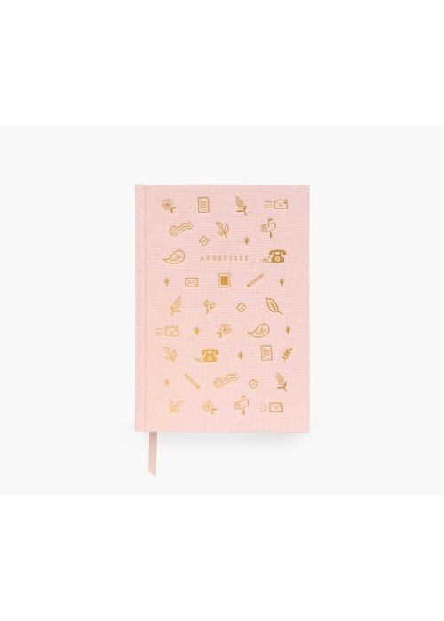 Rifle Paper Blush & Gold Foil Stamped Address Book
