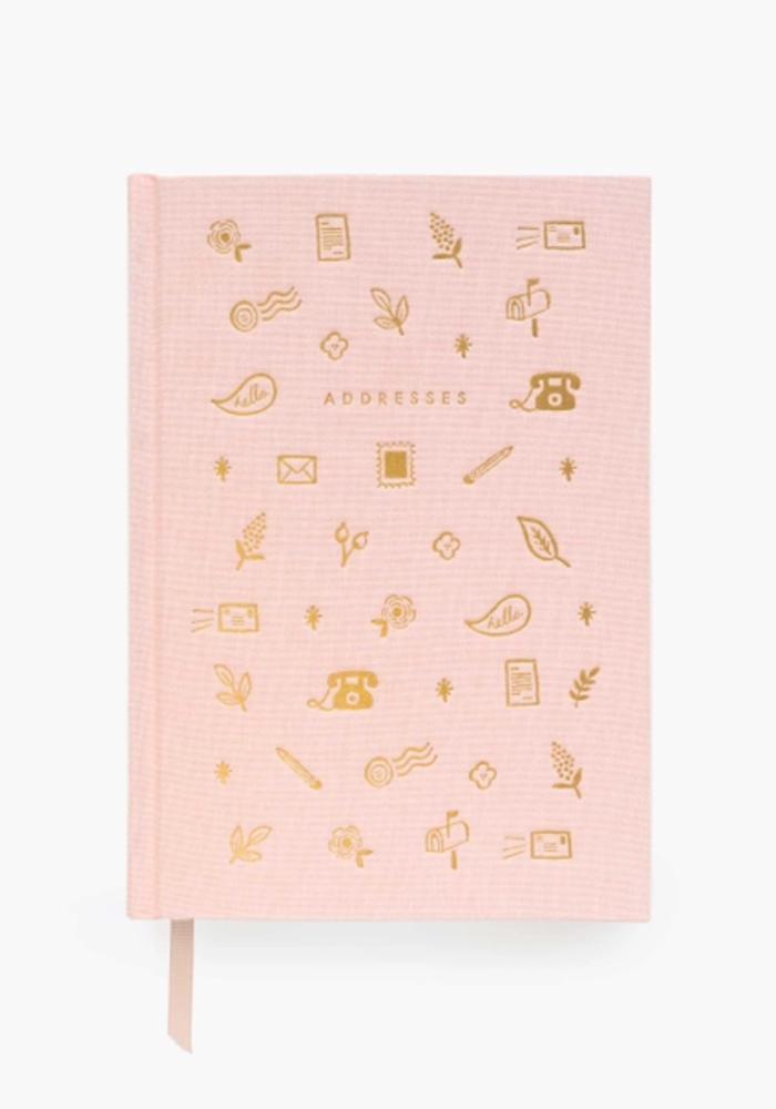 Blush & Gold Foil Stamped Address Book