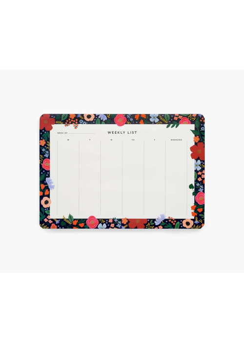 "Rifle Paper ""Wild Rose"" Weekly Desk Pad"