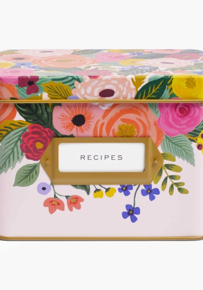 """Juliet Rose"" Recipe Tin & Card Set"