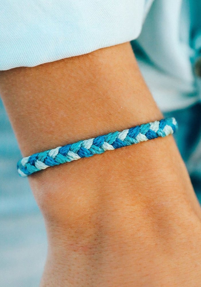 """""""Out of the Blue"""" Braided Bracelet"""