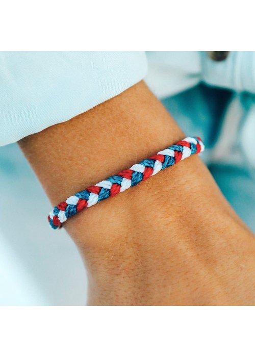 Pura Vida Red, White, & Blue Braided Bracelet