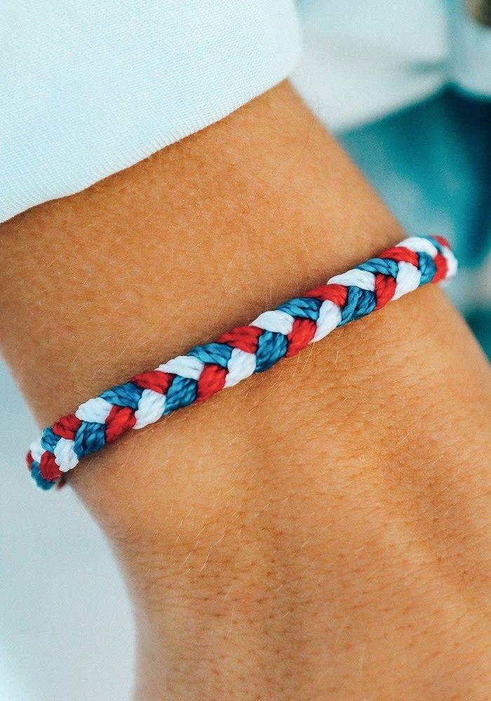 Red, White, & Blue Braided Bracelet