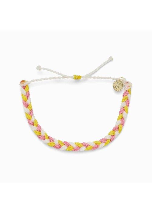 "Pura Vida ""Strawberry Lemonade"" Braided Bracelet"