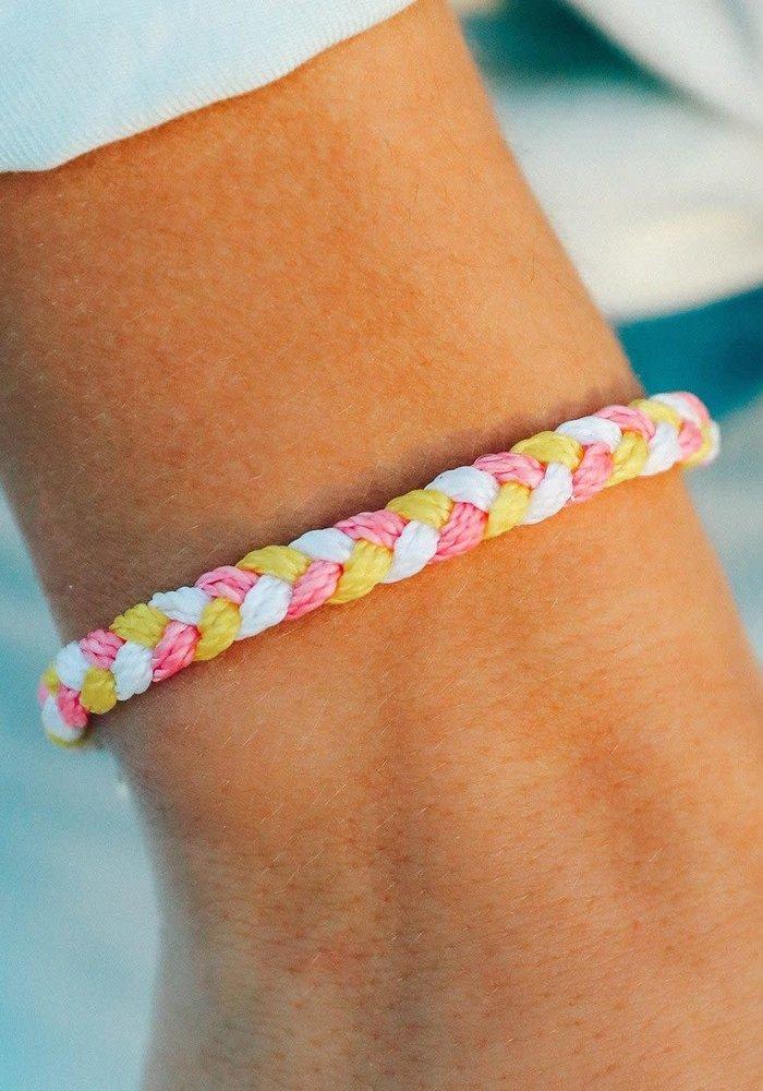 """""""Strawberry Lemonade"""" Braided Bracelet"""