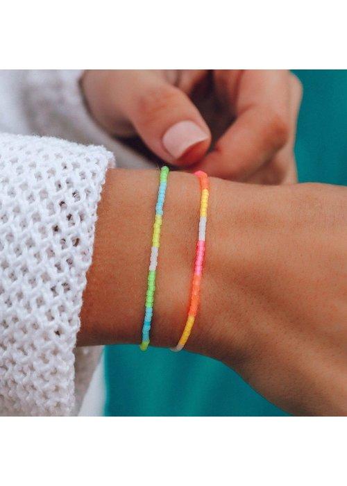 Pura Vida Neon Ombre Seed Bead Bracelet