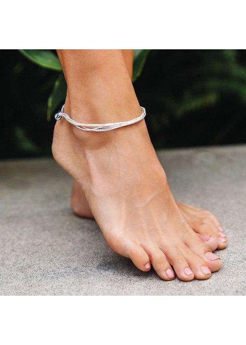 "Pura Vida ""White Sands"" Original Anklet"