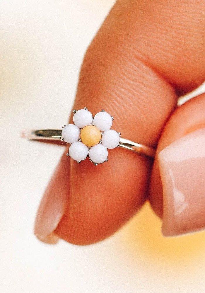 Gemstone Daisy Ring