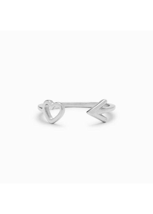 Pura Vida Sterling Silver Heart & Arrow Toe Ring