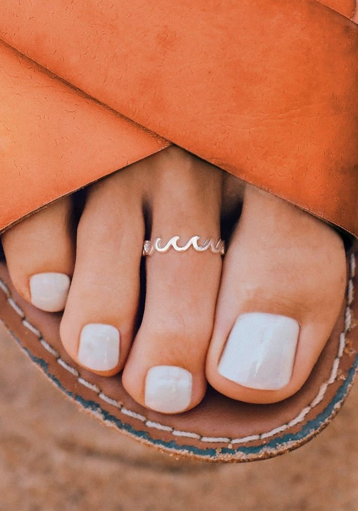Sterling Silver Wave Band Toe Ring