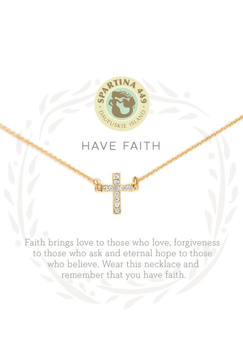 "Spartina 449 Sea La Vie ""Have Faith"" Gift Message Necklace"