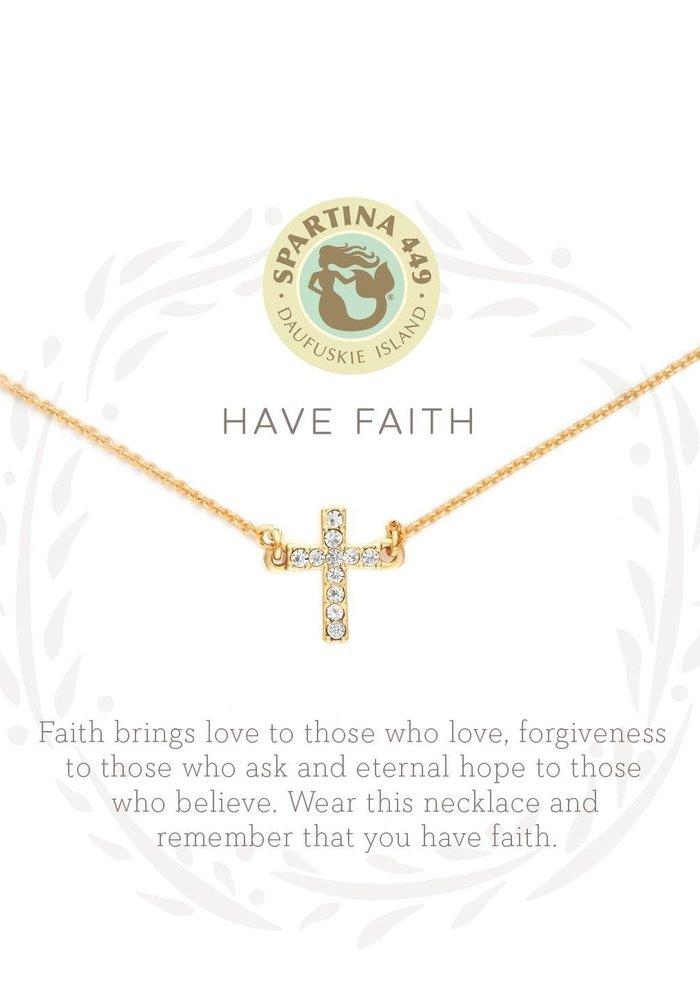 "Sea La Vie ""Have Faith"" Gift Message Necklace"