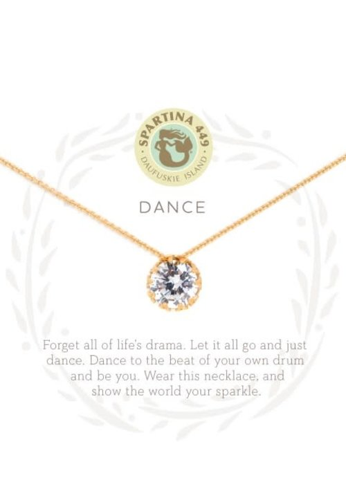 "Spartina 449 Sea La Vie ""Dance"" Gift Message Necklace"