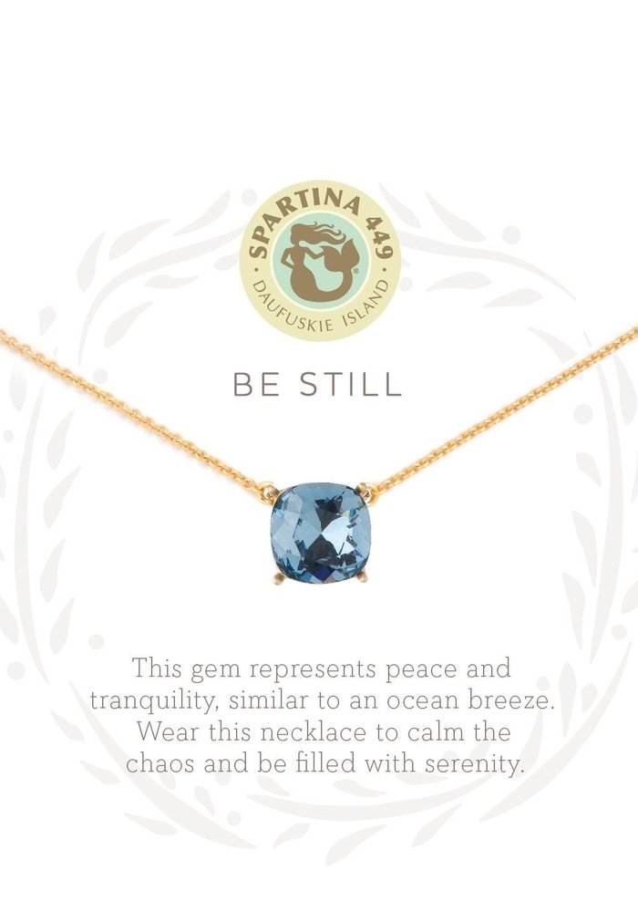 "Sea La Vie ""Be Still"" Gift Message Necklace"