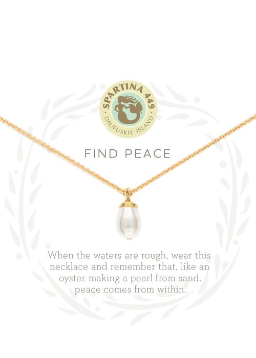 "Spartina 449 Sea La Vie ""Find Peace"" Gift Message Necklace"