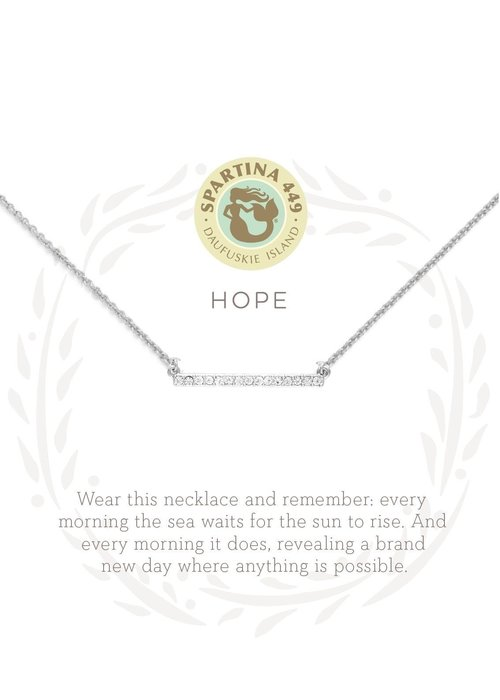 "Spartina 449 Sea La Vie ""Hope"" Gift Message Necklace"