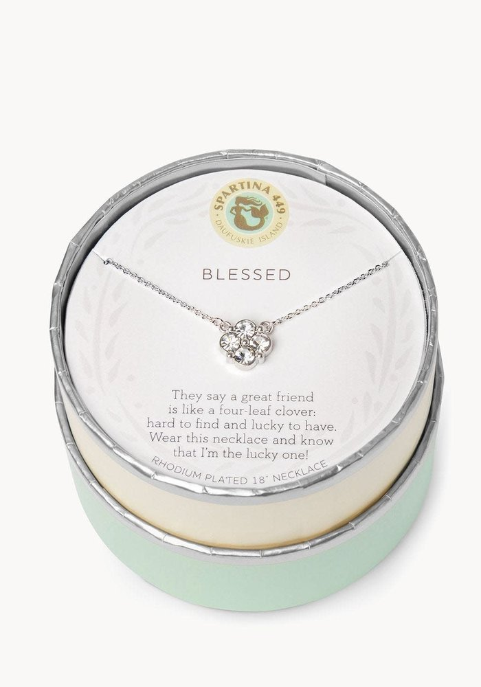 """Sea La Vie """"Blessed"""" Gift Message Necklace"""