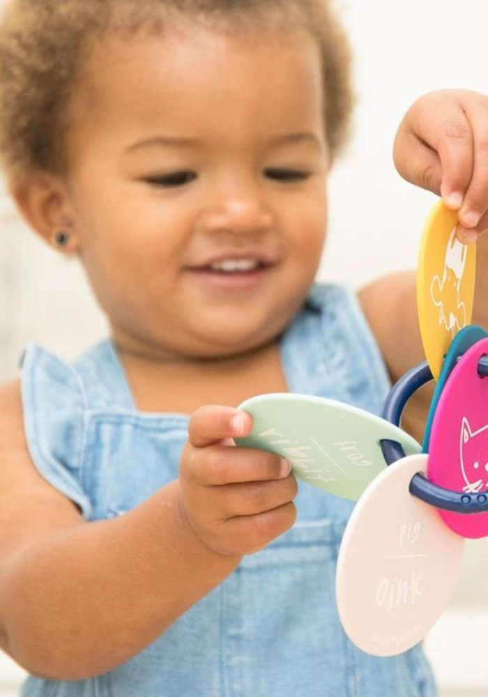 """""""Party Animals"""" Teething Flashcards"""