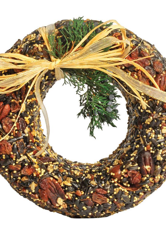 Classic Pecan Birdfeed Wreath