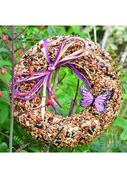 "Mr. Bird 9"" WildFare Birdfeed Wreath"