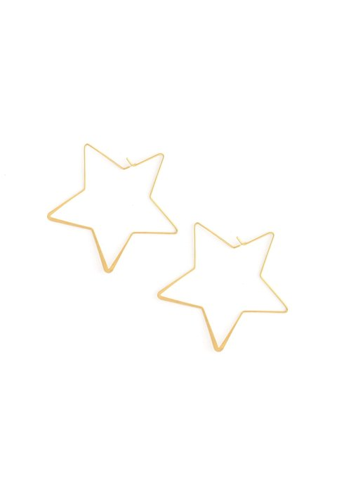 Oversized Star Wire Earring