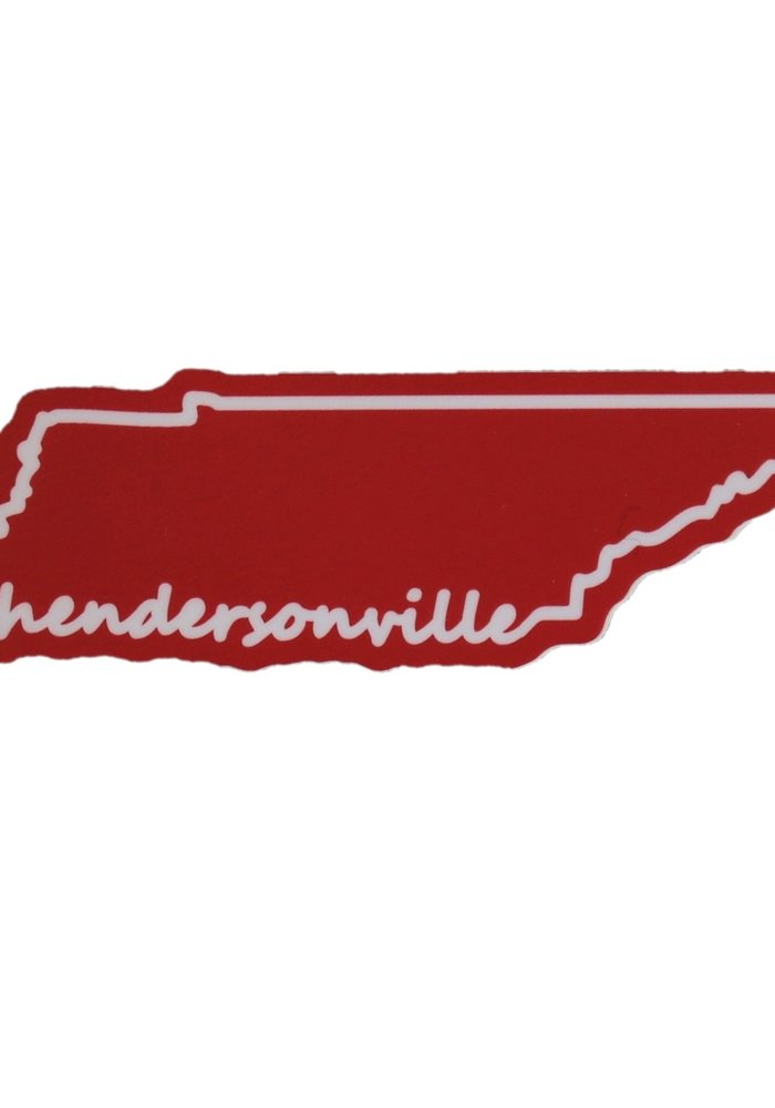 Hendersonville State Outline Sticker
