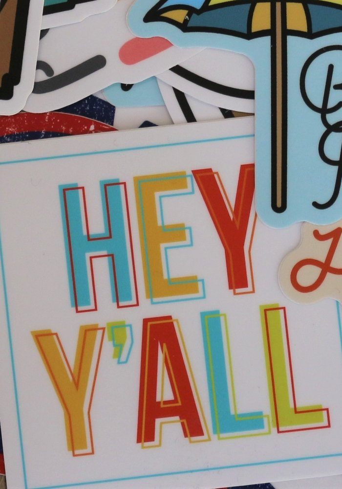 """""""Hey Y'all"""" Sticker"""