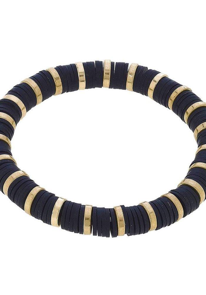 Emberly Color Block Bracelet in Black