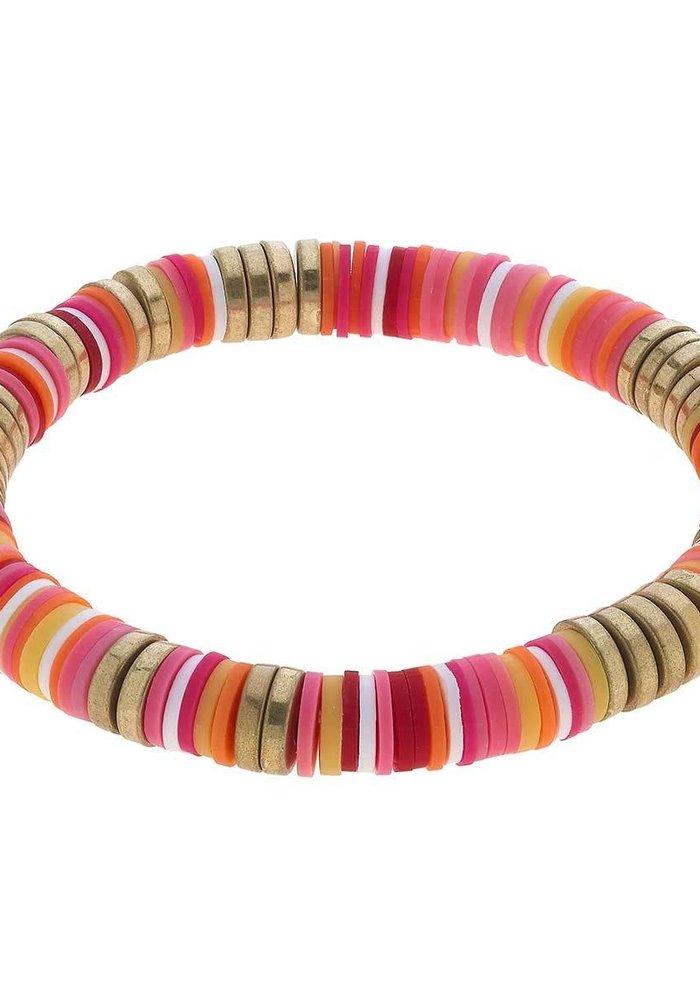 Emberly Color Block Bracelet in Citrus Multi