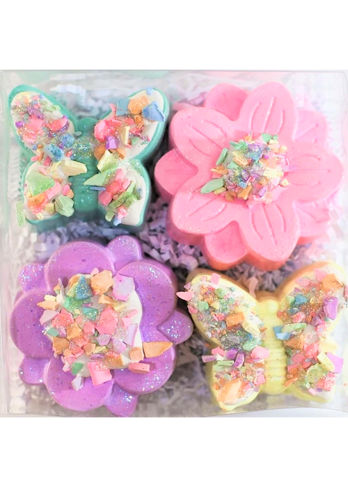 """Sweet Spring"" Flower & Butterfly Decorated Chalk Set"