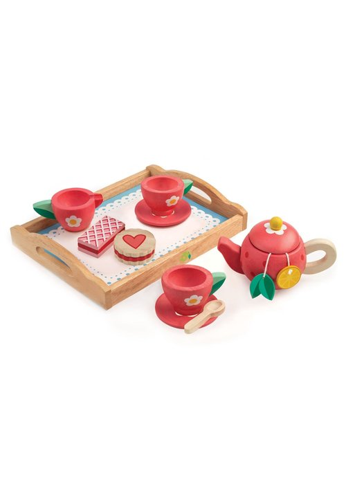 Wooden Painted Tea Party 12-Piece Set
