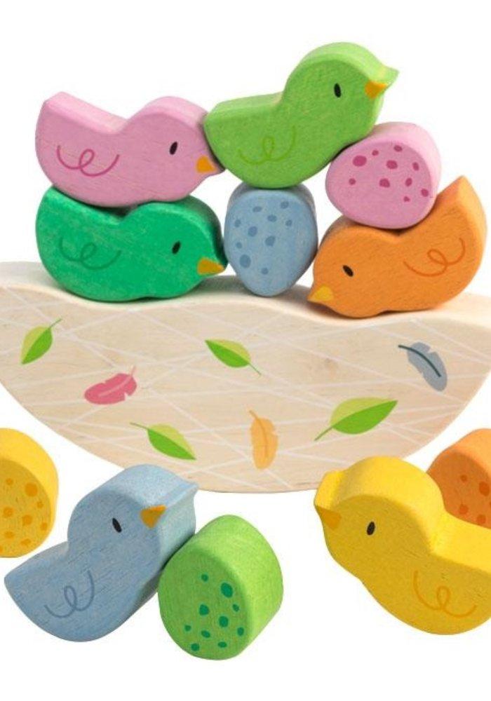 Rocking Baby Birds Nest 12-Piece Wooden Set