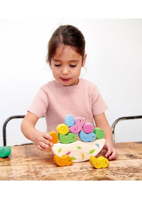 Rocking Baby Birds Nest 12-Piece Wooden Set
