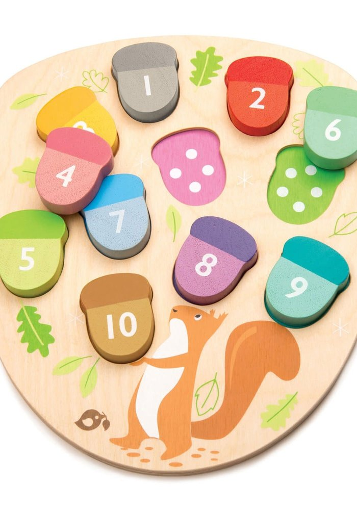 """""""How Many Acorns?"""" Wooden Learn & Play Set"""
