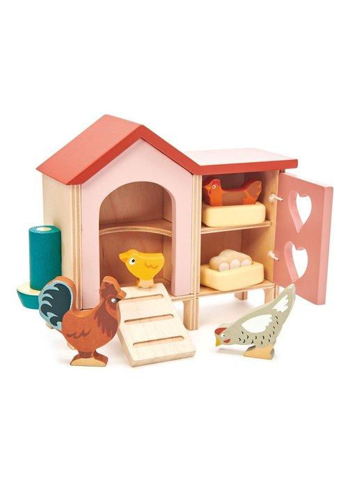 Wooden Chicken Coop 9-Piece Play Set