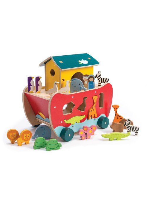 Wooden Noah's Ark 23-Piece Shape Sorter Set